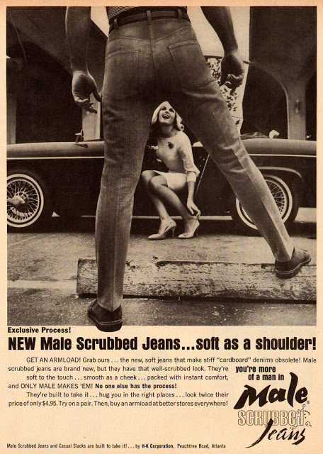 Advertising of Male Scrubbed Jeans, 1965 (2)